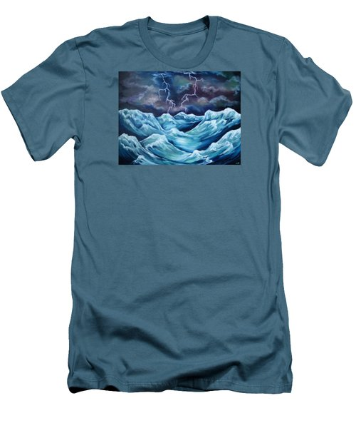 A Fierce Beauty Men's T-Shirt (Slim Fit) by Cheryl Pettigrew