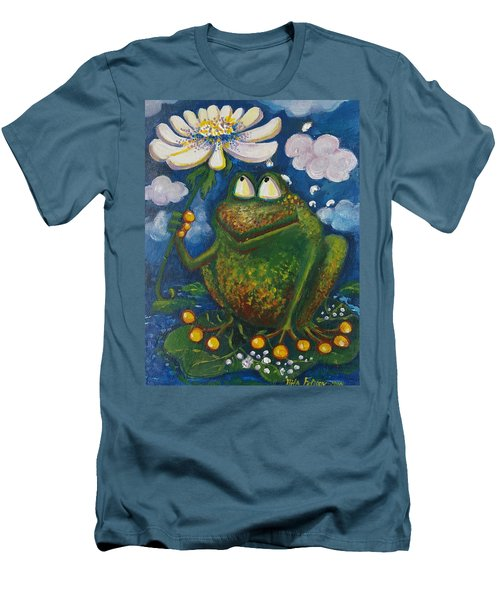 Frog In The Rain Men's T-Shirt (Slim Fit) by Rita Fetisov