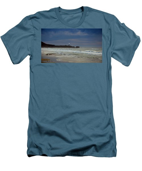 Men's T-Shirt (Slim Fit) featuring the photograph A Guiding Light by Jim Walls PhotoArtist