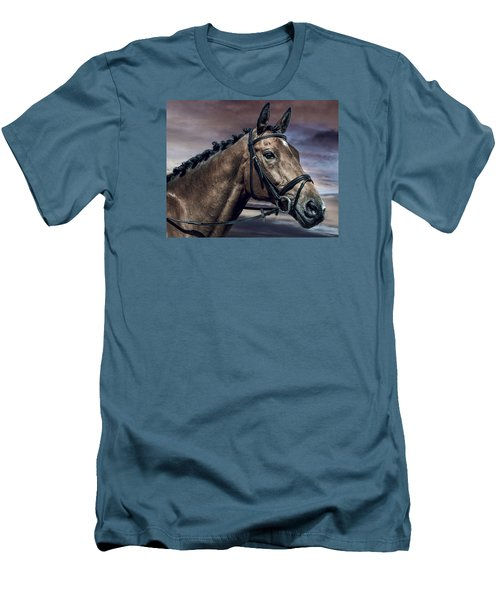 Men's T-Shirt (Slim Fit) featuring the photograph A Horse Called Zi by Brian Tarr