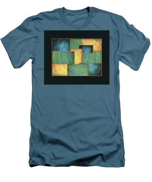 Men's T-Shirt (Slim Fit) featuring the painting A Light Well by Deborah Smith