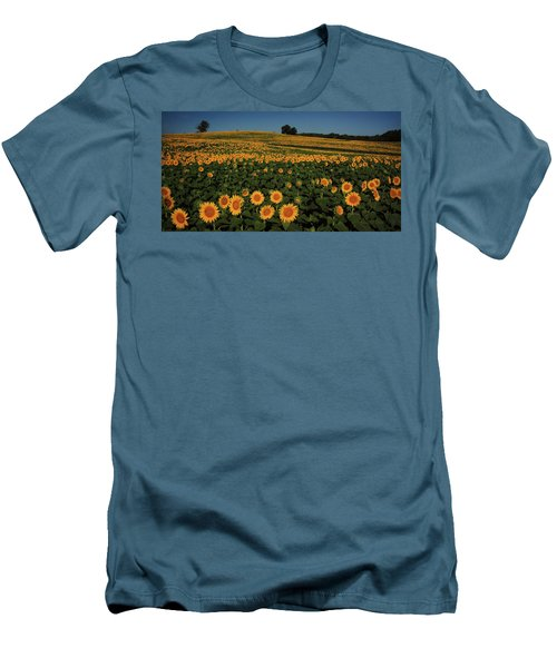 Men's T-Shirt (Slim Fit) featuring the photograph A Lot Of Birdseed  by Chris Berry