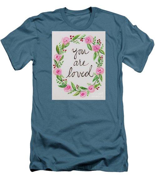 A Love Note Men's T-Shirt (Slim Fit) by Elizabeth Robinette Tyndall