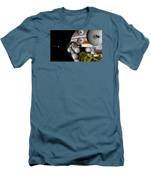 Men's T-Shirt (Slim Fit) featuring the digital art A Message Back Home by David Robinson