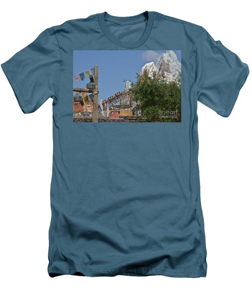 Men's T-Shirt (Slim Fit) featuring the photograph A Mountain Of Fun by Carol  Bradley