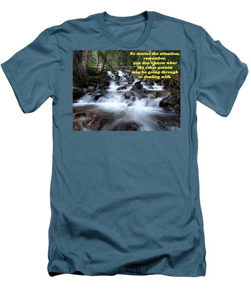 A Mountain Stream Situation 2 Men's T-Shirt (Slim Fit) by DeeLon Merritt