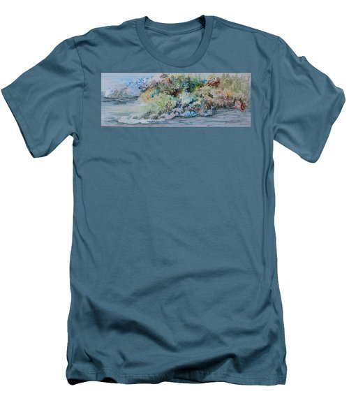 A Northern Shoreline Men's T-Shirt (Slim Fit) by Joanne Smoley