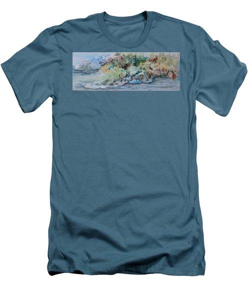 A Northern Shoreline Men's T-Shirt (Slim Fit) by Joanne Smoley