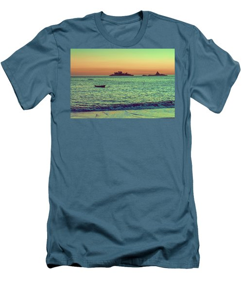 A Quiet Summer Evening On The Montenegrin Coast Of The Adriatic Sea Men's T-Shirt (Athletic Fit)