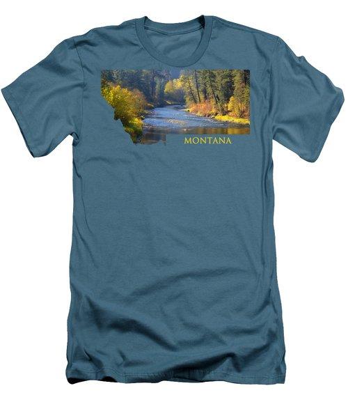 A River Runs Thru Autumn Men's T-Shirt (Athletic Fit)