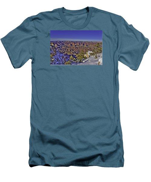A Snowy Grand Canyon Men's T-Shirt (Slim Fit)