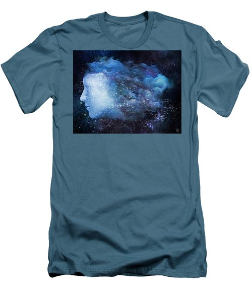 Men's T-Shirt (Slim Fit) featuring the digital art A Soul In The Sky by Gun Legler