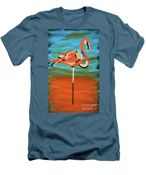 A Straight Up Flamingo Men's T-Shirt (Athletic Fit)