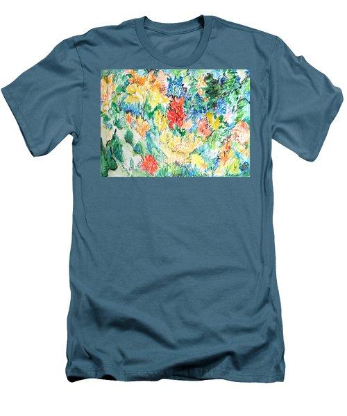 A Summer Garden Frolic Men's T-Shirt (Slim Fit) by Esther Newman-Cohen