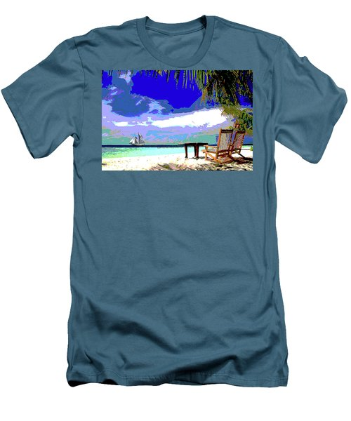 A Sunny Day At The Beach Men's T-Shirt (Athletic Fit)