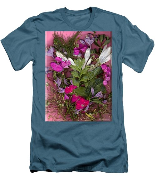 Men's T-Shirt (Slim Fit) featuring the digital art A Symphony Of Flowers by Ray Tapajna