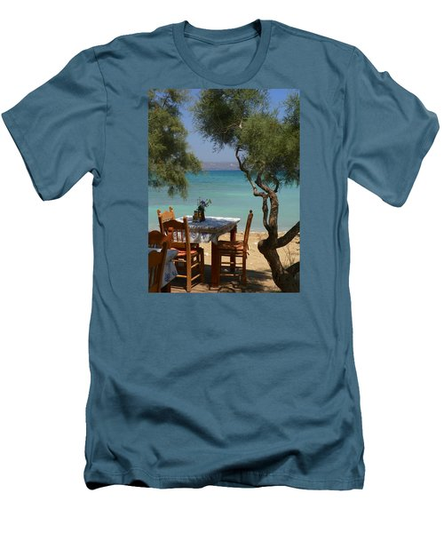 A Table Underneath The Welcoming Shade Men's T-Shirt (Athletic Fit)