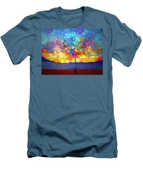 Men's T-Shirt (Slim Fit) featuring the digital art A Tree For A New Season by Tara Turner