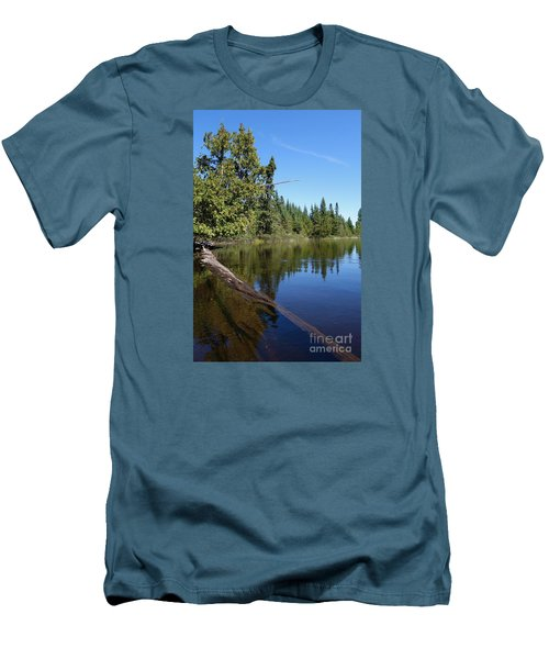 Men's T-Shirt (Slim Fit) featuring the photograph A View From My Kayak by Sandra Updyke