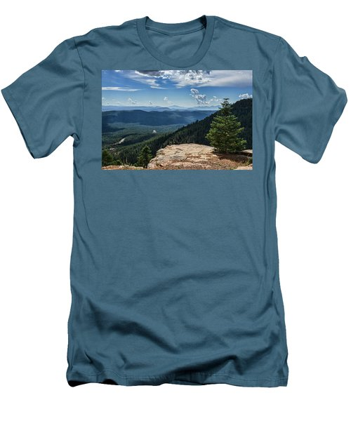 Men's T-Shirt (Athletic Fit) featuring the photograph A View From The Rim  by Saija Lehtonen