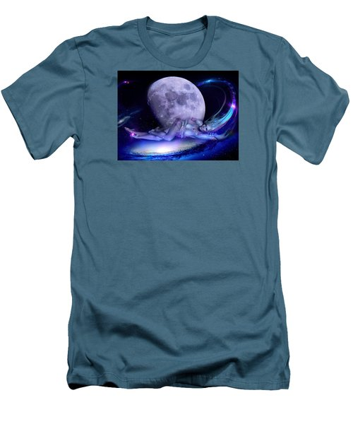 A Visit From Venus Men's T-Shirt (Slim Fit) by Glenn Feron