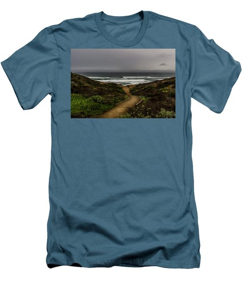 A Walk To The Beach Men's T-Shirt (Athletic Fit)