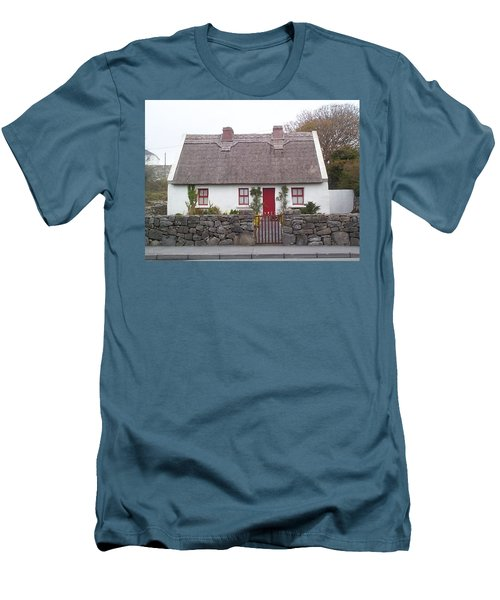 Men's T-Shirt (Slim Fit) featuring the photograph A Wee Small Cottage by Charles Kraus