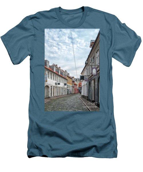 Men's T-Shirt (Slim Fit) featuring the photograph Aarhus Backstreet Scene by Antony McAulay