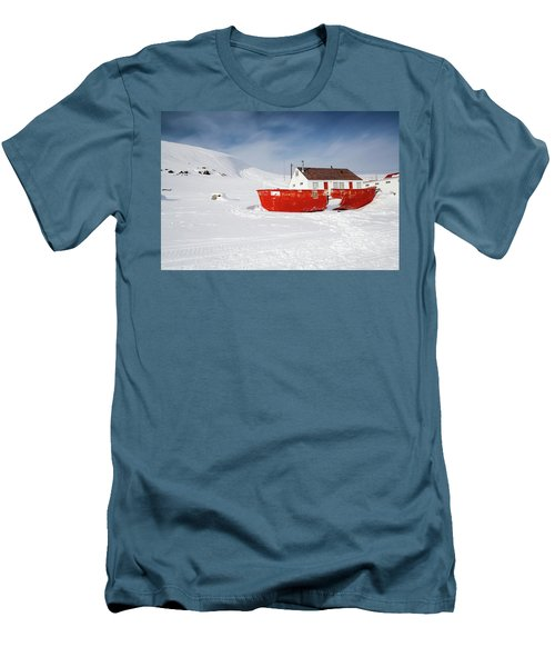 Abandoned Fishing Boat Men's T-Shirt (Slim Fit) by Nick Mares