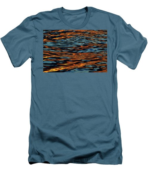 Above And Below The Waves  Men's T-Shirt (Slim Fit) by Lyle Crump