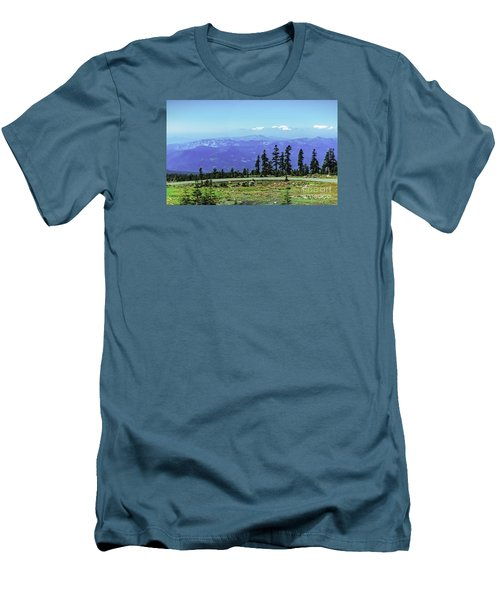 Above The Smoke Men's T-Shirt (Slim Fit) by Nancy Marie Ricketts