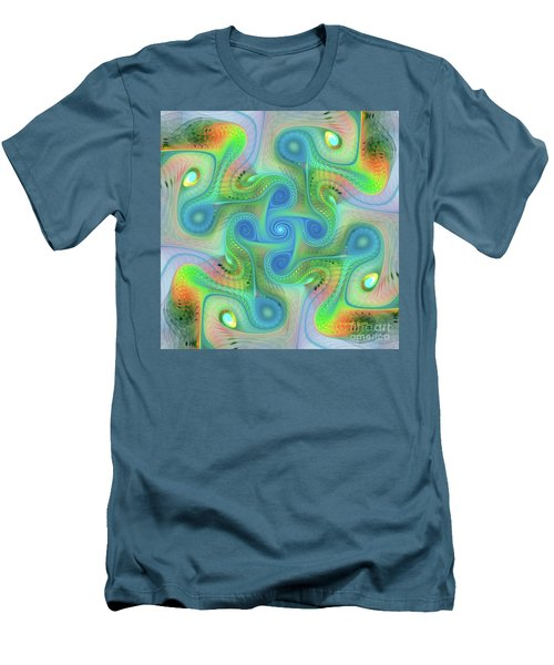 Men's T-Shirt (Slim Fit) featuring the digital art Abstract Gnarl by Deborah Benoit