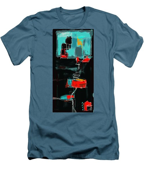 Men's T-Shirt (Slim Fit) featuring the painting Abstract - 21nov2016 by Jim Vance