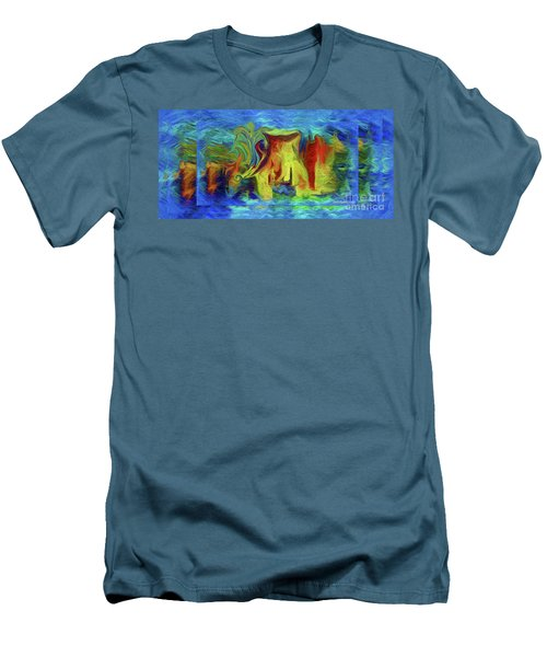 Abstract Artgo With The Flow Men's T-Shirt (Slim Fit) by Sherri's Of Palm Springs