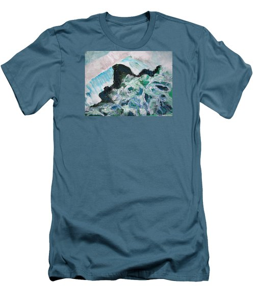 Abstract Crashing Waves Men's T-Shirt (Athletic Fit)