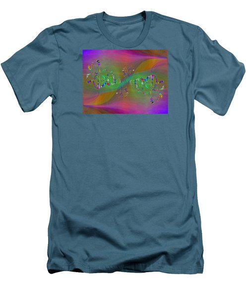 Men's T-Shirt (Slim Fit) featuring the digital art Abstract Cubed 376 by Tim Allen
