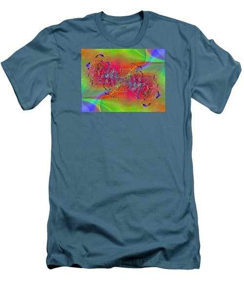 Men's T-Shirt (Slim Fit) featuring the digital art Abstract Cubed 382 by Tim Allen