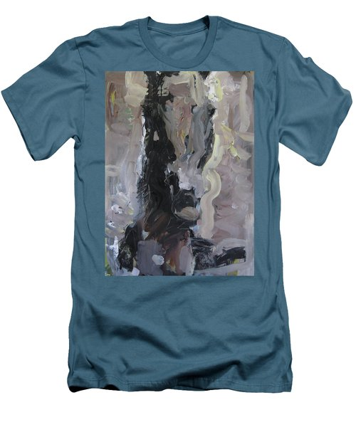 Abstract Horse Painting Men's T-Shirt (Athletic Fit)
