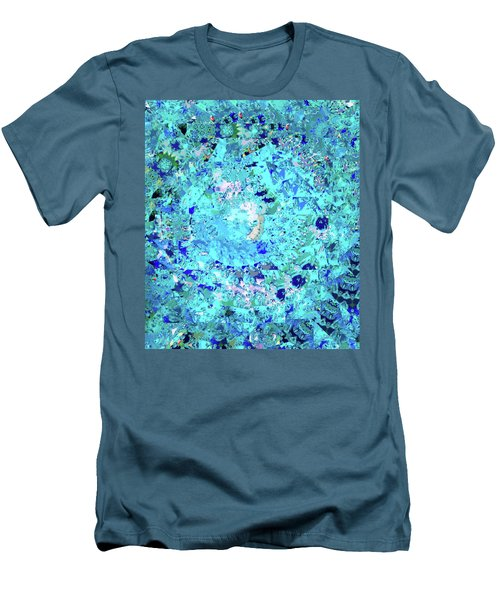 Abstract In Blue No. 56-2 Men's T-Shirt (Athletic Fit)