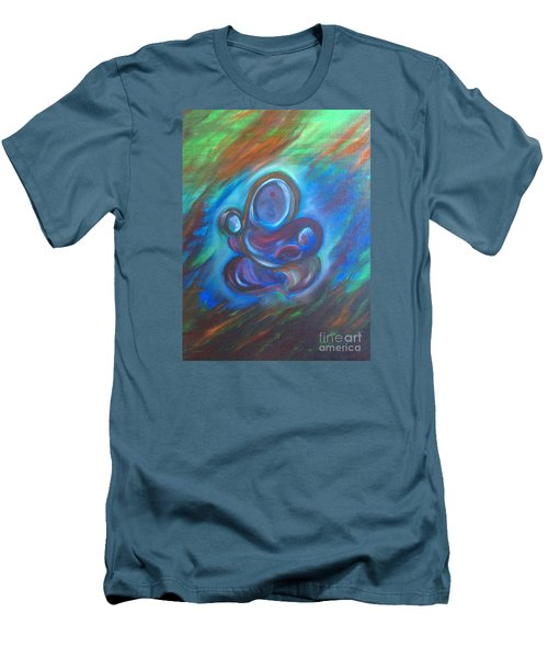 Men's T-Shirt (Slim Fit) featuring the painting Abstract Mother by Brindha Naveen