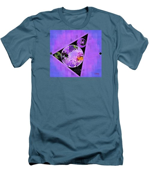 Men's T-Shirt (Slim Fit) featuring the digital art Abstract Painting - Slate Blue by Vitaliy Gladkiy