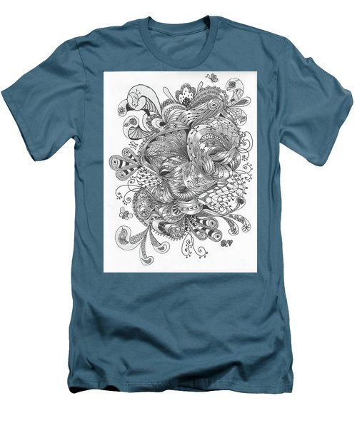 Abstract2 Men's T-Shirt (Slim Fit) by Quwatha Valentine