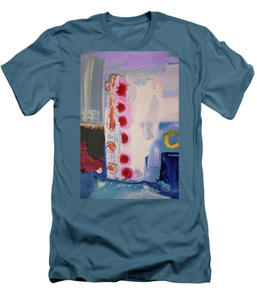 abstraction, fire in the Chakras Men's T-Shirt (Slim Fit) by Amara Dacer