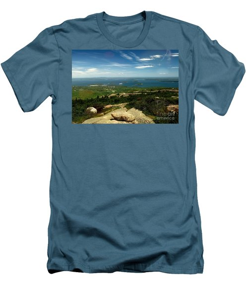 Men's T-Shirt (Slim Fit) featuring the photograph Acadia by Raymond Earley