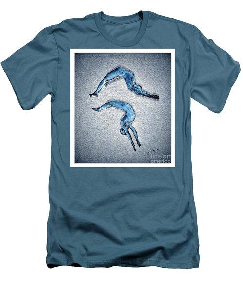 Acrobatic Gesture Men's T-Shirt (Athletic Fit)