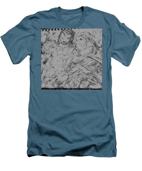 Adam Andeve The Creation Story Men's T-Shirt (Athletic Fit)