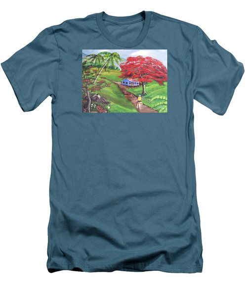 Admirando El Campo Men's T-Shirt (Slim Fit) by Luis F Rodriguez