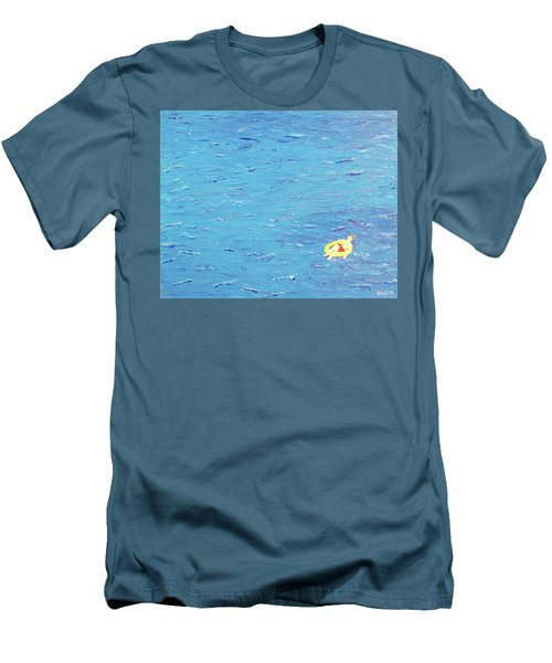 Men's T-Shirt (Slim Fit) featuring the painting Adrift by Thomas Blood