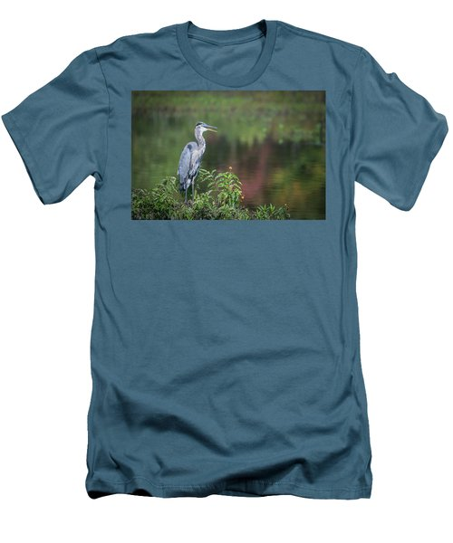 Advice From A Great Blue Heron Men's T-Shirt (Athletic Fit)
