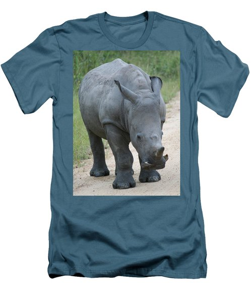 African Rhino Men's T-Shirt (Athletic Fit)